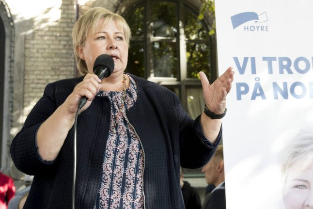 Norway's Conservatives cheer as opposition poll slide continues