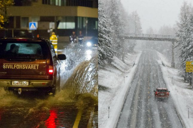 Norway hit by weather trouble as both rain and snow disrupt country