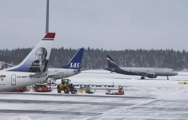 Snow could cause delays at Oslo Airport