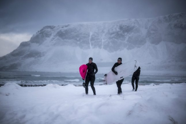 Braving Norway's cold: Surfing above the Arctic Circle