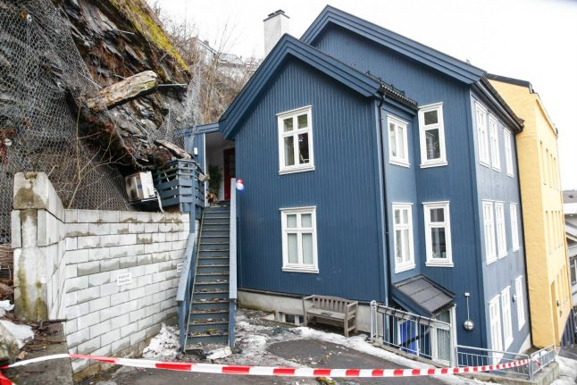 Oslo residents evacuated after rockslide hits house