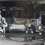 Norway student party buses destroyed by fire