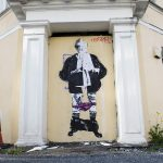 New politician street art appears at site of Norway's 'minister crucifixion' painting
