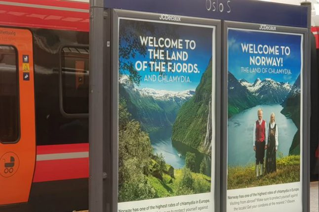 'Land of chlamydia': provocative ad welcomes tourists to Norway