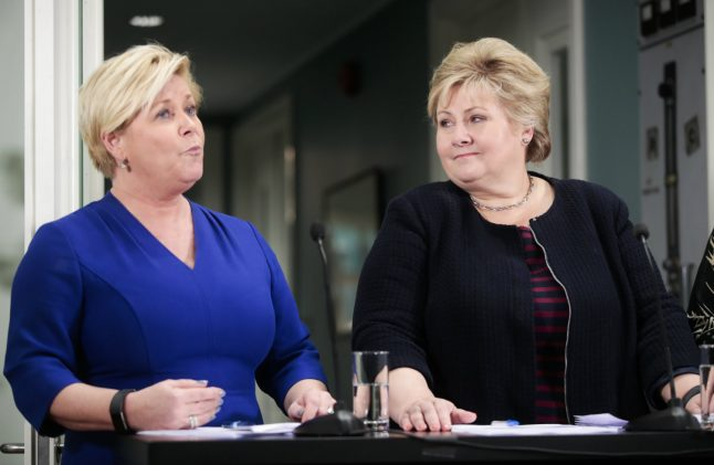 Norway's PM and finance minister in potential clash over EU asylum
