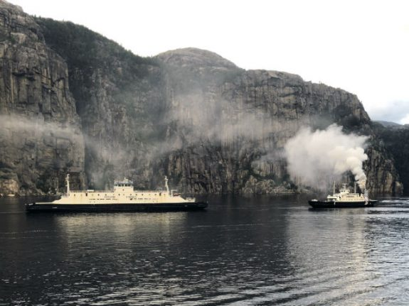 Tourist ferry evacuated after fire under Norway's Pulpit Rock