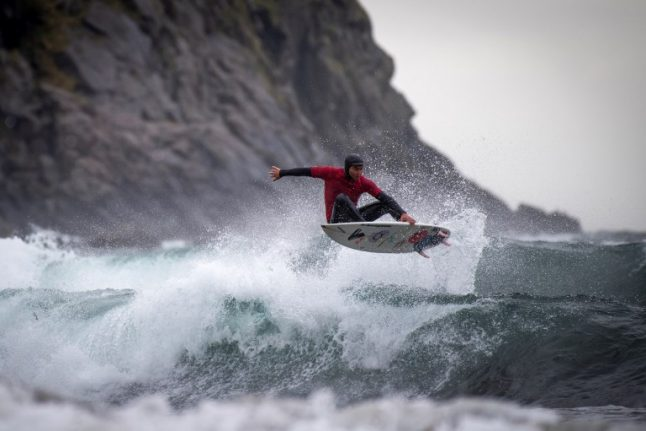 'In winter, if you surf for two hours, you can't feel your fingers'