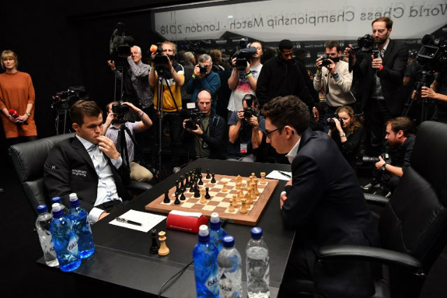 Norway's Carlsen ends chess game with dramatic draw