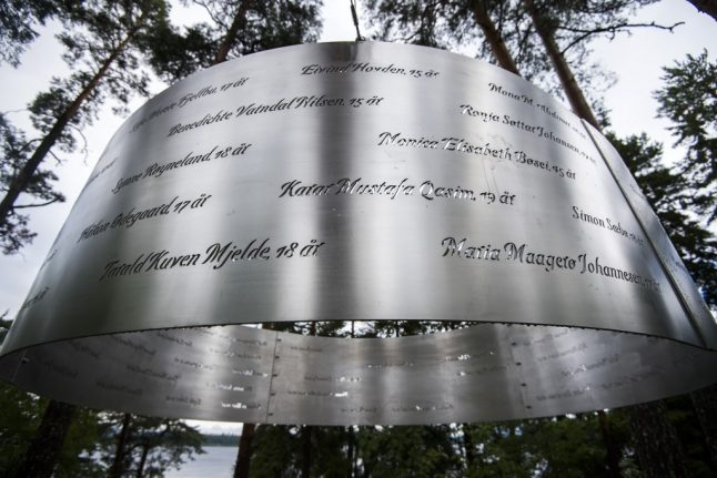 Utoya memorial defaced with swastika on anniversary of attack