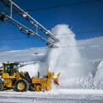 Winter is here: snow in central Norway causes road closures