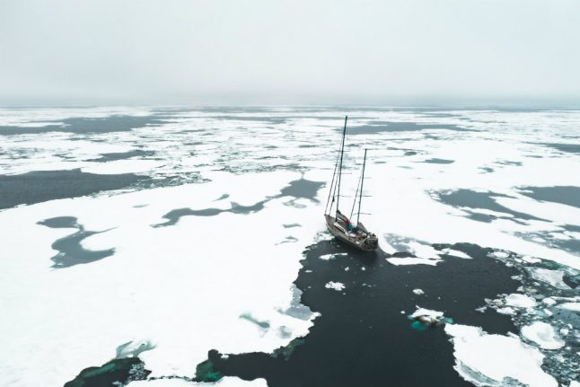 Norwegian adventurer struggles as climate change thins Arctic ice