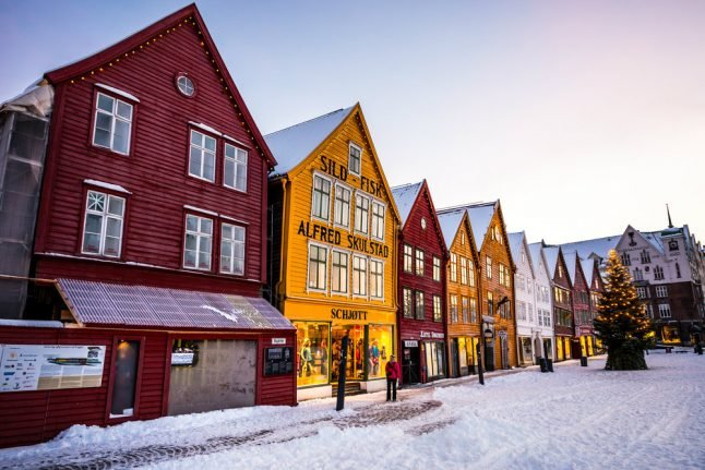 Here's where you can expect a white Christmas in Norway