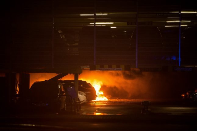 Flights at Norwegian airport delayed as 'hundreds' of cars burn in fire