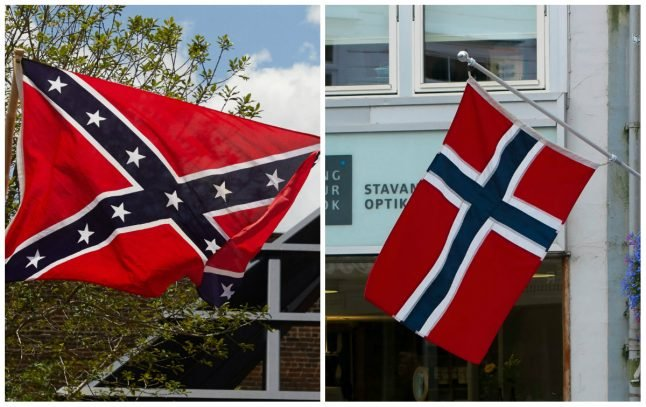 Norwegian flag taken down in US town after being confused for Confederate banner