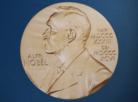 The portrait of Alfred Nobel used by the Nobel Institute. The institute has appealed to Norway's government for financial support.