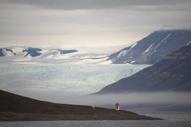 A hungry polar bear photographed on Norwegian Arctic archipelago Svalbard in late September.