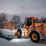 Drivers in Norway urged to switch to winter tyresafter snow showers